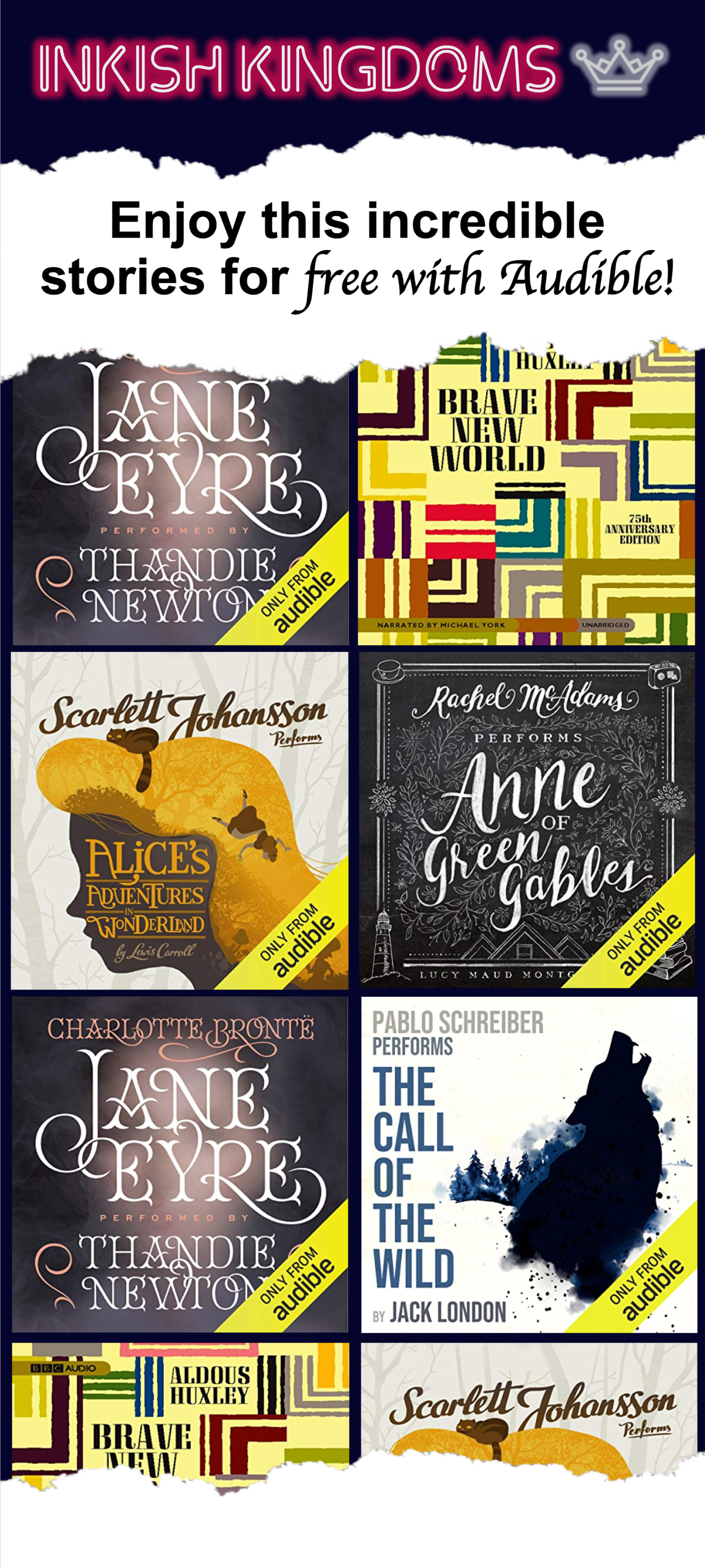 enjoy this incredible stories for free with audible inkish kingdoms