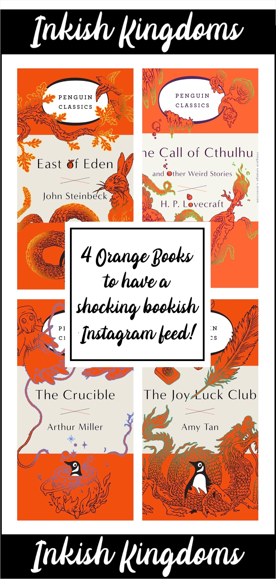 4 orange books to have a shocking bookish Instagram feed!